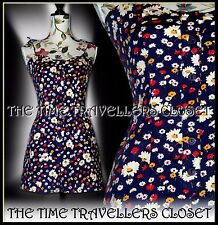 fec07ad29d Kate Moss TopShop Rare Floral Ditsy Navy Blue Red Multi Festival Playsuit  UK 14