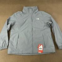The North Face Women's Size XXL Gray Pink Resolve 2 Rain Hike Jacket NWT