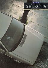 Fiat Uno 60 Selecta 1987-88 UK Market Foldout Sales Brochure
