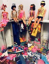 Vintage Twiggy/Francie/ Pj / Barbie/Ken /dolls/case /Wardrobe