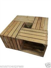16pcs VINTAGE WOODEN APPLE CRATES STORAGE BOX FRUIT CRATES BOX