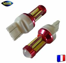 2 ampoules 78 leds 4014 SMD W21/5W blanche 1200 lumens 12V
