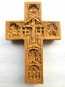 Orthodox Wax Cross Greek  Carved Handmade Mount Athos 234