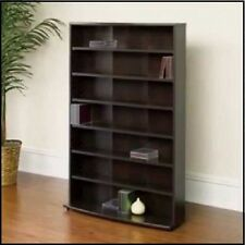 Multimedia DVD Tower CD Rack Shelf Storage Cabinet Organizer Cherry Media Stand