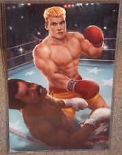 Rocky 4 Ivan Drago vs Apollo Creed Glossy Art Print 11x17 In Hard Plastic Sleeve