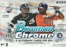 2020 Bowman Chrome Hta Baseball Factory Sealed Box - 3 Autographs
