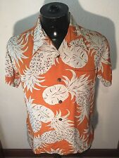 Mens classic Hawaiian s/s shirts 100% silky rayon med