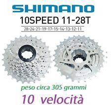 cassetta pacco pignoni bici corsa 11-28t shimano ruota libera 10 velocità 10v