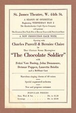"""Oscar Straus """"CHOCOLATE SOLDIER"""" Charles Purcell / Bernice Claire 1934 Flyer"""