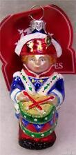 New Slavic Treasures Retired Glass Ornament - Drum Corps (Patriotic) 2001