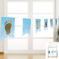 BABY SHOWER BUNTING BLUE BABY SHOWER BOY PARTY SUPPLIES BANNER