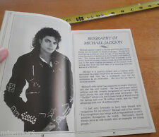 1988 Michael Jackson Tribute program and crew script folder Natalie Cole RARE!