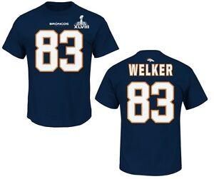 NFL T-Shirt Denver Broncos Wes Welker 83 Football Receiver Superbowl Xlviii