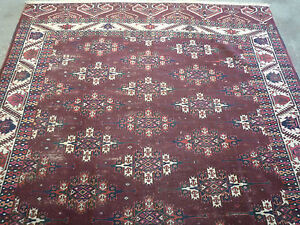 "Antique Turcoman Yomud oriental carpet (  9ft.8"" x 6ft.4"" )"