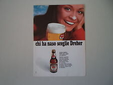 advertising Pubblicità 1971 BIRRA BEER DREHER