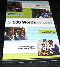 """""""In 500 Words or Less"""" Director's Cut Version DVD Video <NEW>"""