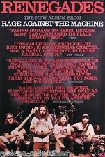 Rage Against The Machine 2000 Renegades Original Promo Poster I