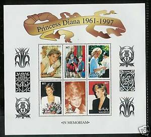MALDIVES # 2297 PRINCESS DIANA MEMORIAL Miniature Sheet