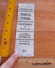 1969 UCLA vs California Berkeley Football press photographer ribbon Tunnel