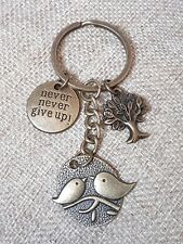 Tree of Life Bird Keychain Keyring Keyholder Charm Gift Never Give Up!