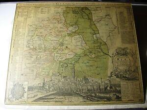 alte Landkarte von Nördlingen und Umgebung