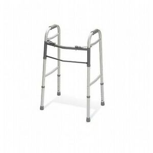 """Two-Button Folding Walker without Wheels, 32"""" - 39"""""""