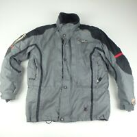 Spyder XTC Mens L Ski Snowboard Jacket Winter Snow Grey Coat Black Fleece