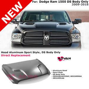 Aluminum Hood Sport Style For Dodge Ram 1500 DS 2009-2018