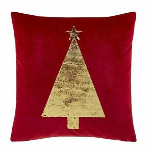 Catherine Lansfield Sequin Christmas Tree Cushion Cover 43 x 43 cm