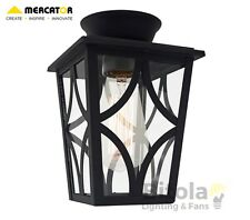 NEW MERCATOR MAINE DIY BATTEN FIX LIGHT SHADE BLACK METAL OUTDOOR EXTERIOR COACH