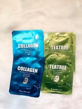 Korean Cosmetics Beauty Secret Lab Collagen+Tea Tree Mask Pack 4 Pcs/US Seller