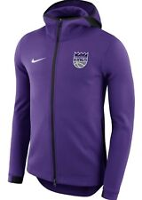 Nike NBA Sacramento Kings On Court Dri-fit Showtime Full Zip Hoodie XXL Purple!!