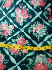 """UNCUT UNUSED 45"""" BY 185"""" FLORAL PRINT POLISHED COTTON  HOME DECOR SEWING FABRIC"""