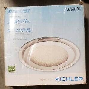 Kichler 14.13-in Chrome Modern/Contemporary LED Flush Mount Light,Free Shipping!
