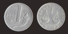 1 LIRA 1954 BILANCIA E CORNUCOPIA - ITALIA