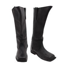 Cavalry Civil War Men's Black Leather Long Boots