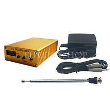 FM Transmitter PLL Stereo Mini Radio Station 87-109MHz DC9-13.8V +Power Adapter