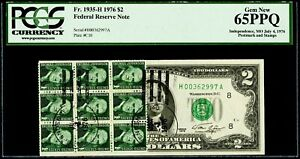 $2 1976 Federal Reserve Note Fr. 1935-H Postmark & Stamps PCGS Gem New 65 PPQ
