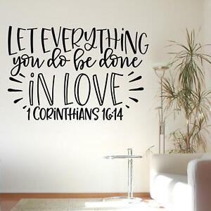 Let Everything You Do Be Done In Love 1 Corinthians 16:14 Wall Sticker Christian