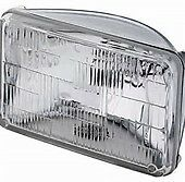(2) H4666 / H4668 type 2D1 Sealed Beam Halogen Headlight~ Rectangle Lamp 12v