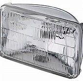(2) H4666 / H4668 type 2D1 Sealed Beam Halogen Headlight~ Rectangle Lamp 12v