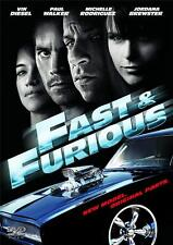 FAST AND THE FURIOUS [4,Four]  [2009] Vin Diesel*Paul Walker Car Racing DVD *EXC