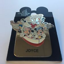 WDW - Monorail JOYCE Name Pin FAB 4 Mickey Minnie Goofy Donald Disney Pin 15004