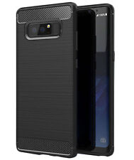 For Samsung Galaxy Note 8 Case Shockproof Armor TPU Flexible Soft Cover Black