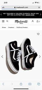 Vans OLD SKOOL Classic Black White Canvas Suede Low Top Skateboard Shoes Unisex