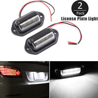 Universal 6 LED License Number Plate Light Lamps for Truck SUV Trailer Lorry 2pc