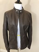 NWOT:  Women's COALITION Brand Chocolate Brown Faux Leather Moto Jacket Medium