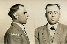 1919, ORIGINAL crime mugshot, philip WIERTEL, robber, auto mechanic, CHICAGO PD