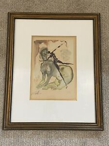 Salvador Dali Pencil Hand Signed Lithograph The Minotaur Approved By The Artist