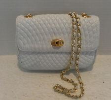 Bally Quilted White Lamb Vintage Shoulder/cross body mini evening bag Vintage
